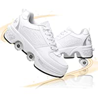 Pinkskattings@ Multifunctionele Roller Sneakers Schoenen met Wielen Verstelbare Quad Roller Laarzen Automatische…
