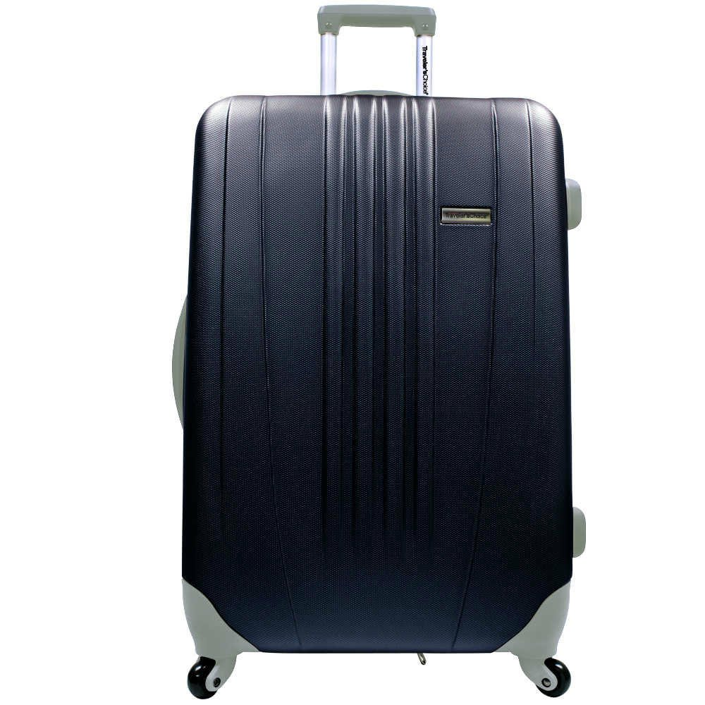 Toronto 29'' Expandable Hardsided Spinner Suitcase Color: Black by Traveler's Choice