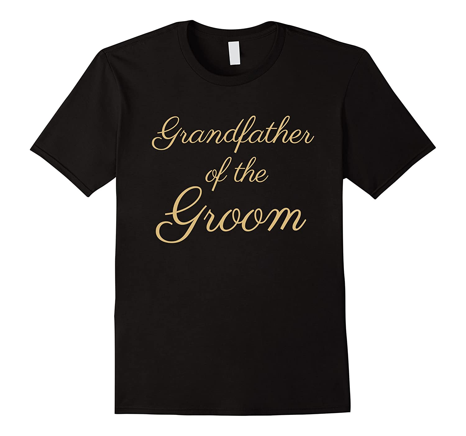 Mens Grandfather Groom T Shirt Script-Tovacu