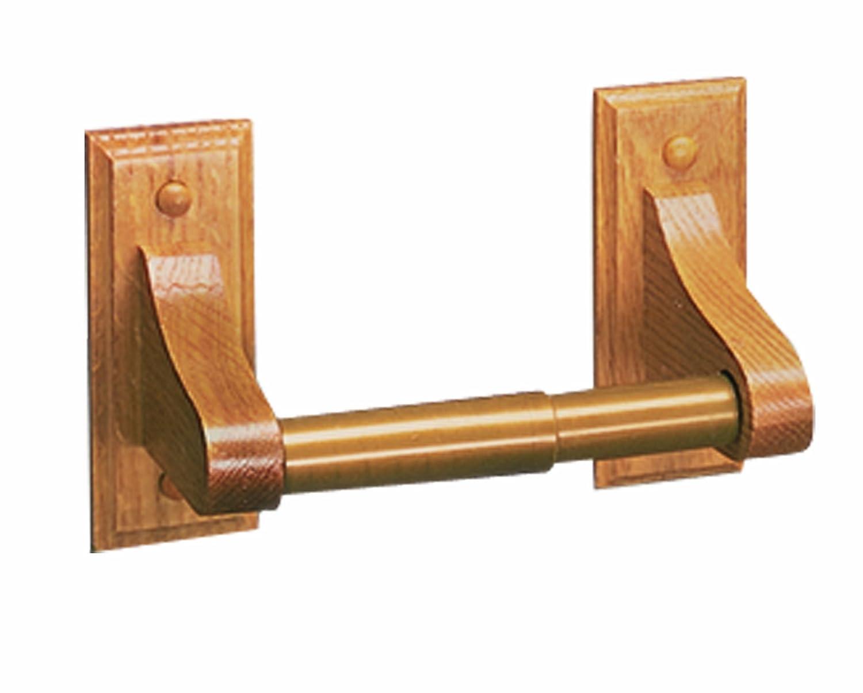 Design House 534446 Bradford Toilet Paper Holder Honey Oak Wood