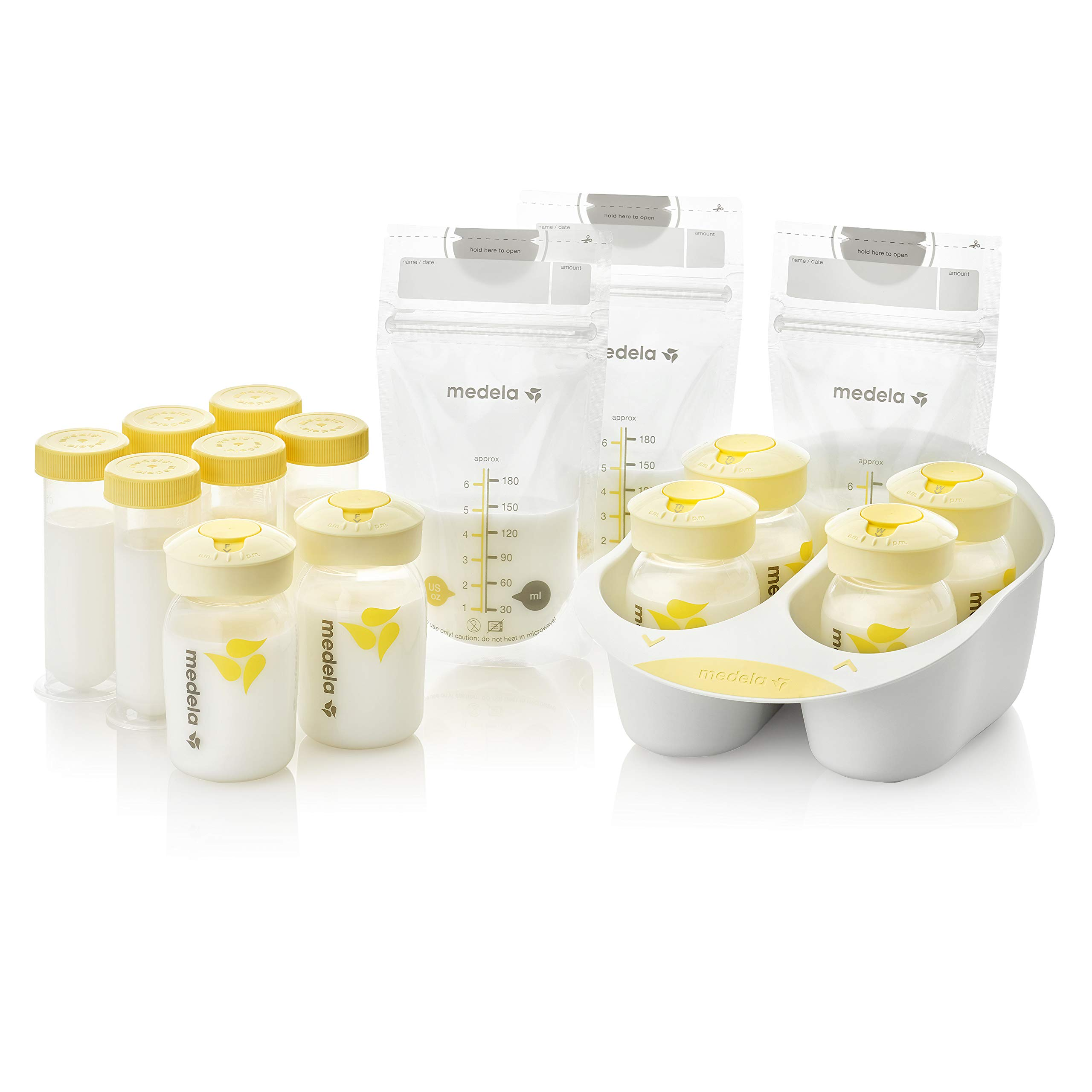 Medela Breast Milk Storage Solution Set, Breastfeeding Supplies & Containers, Breastmilk Organizer, Made Without BPA by Medela