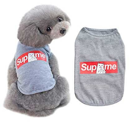 11759ab89 UPRetailer Fashion SupMe Pet Dog Shirts Small Dogs Tank Top Clothes Funny  Cat Puppy T-