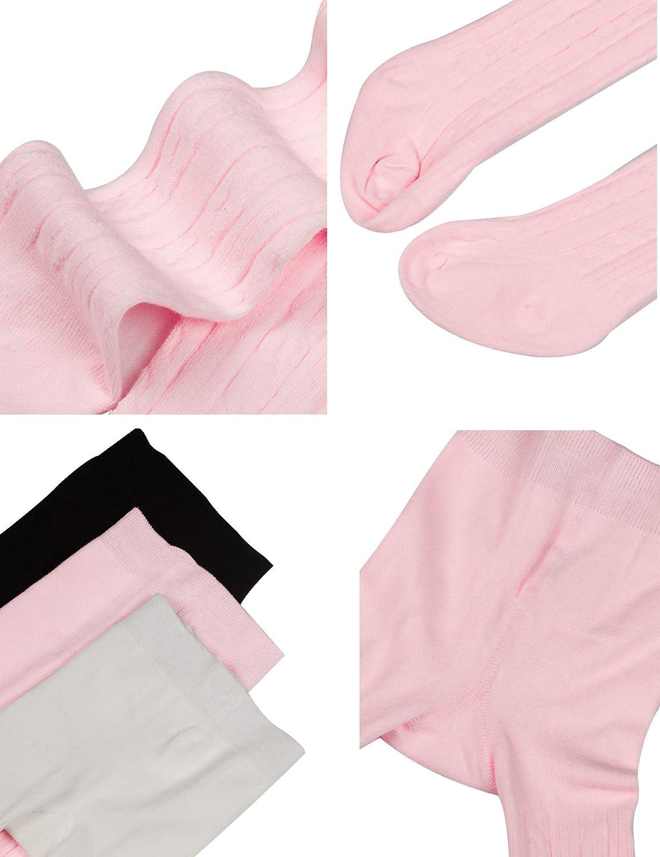 per bambine da 0 a 4 anni WEWINK PLUS Confezione da 3 leggings in cotone lavorato a maglia