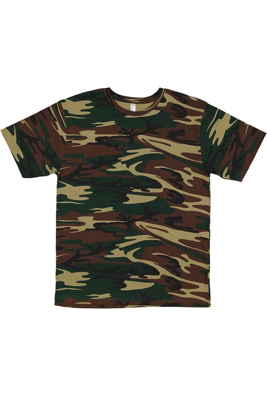 Code Five Mens 100/% Cotton Camouflage Crew Neck Short Sleeve Tee