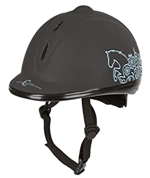 Covalliero VG1 - Casco de equitación Unisex, Color Negro, Unisex, Helm Reithelm Beauty