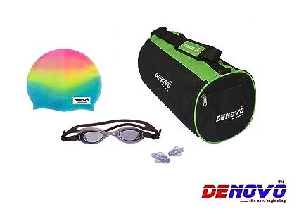 DeNovo Supreme Swimming Kit  Kit Bag, Swimming Cap, Swimming Goggle and Ear Plugs  Swimming