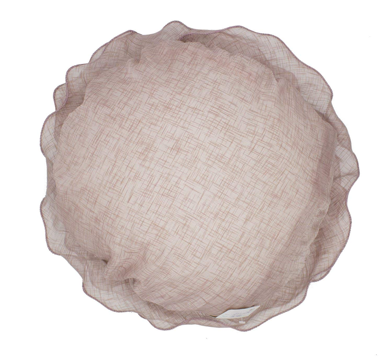 Fennco Styles Beautiful Handmade 3D Rose with Custom Made Fabric Decorative Throw Pillow 16 Round Mauve, Case Insert