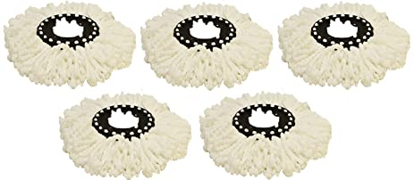 cyclomop replacement spinning spin mop heads 5 pack