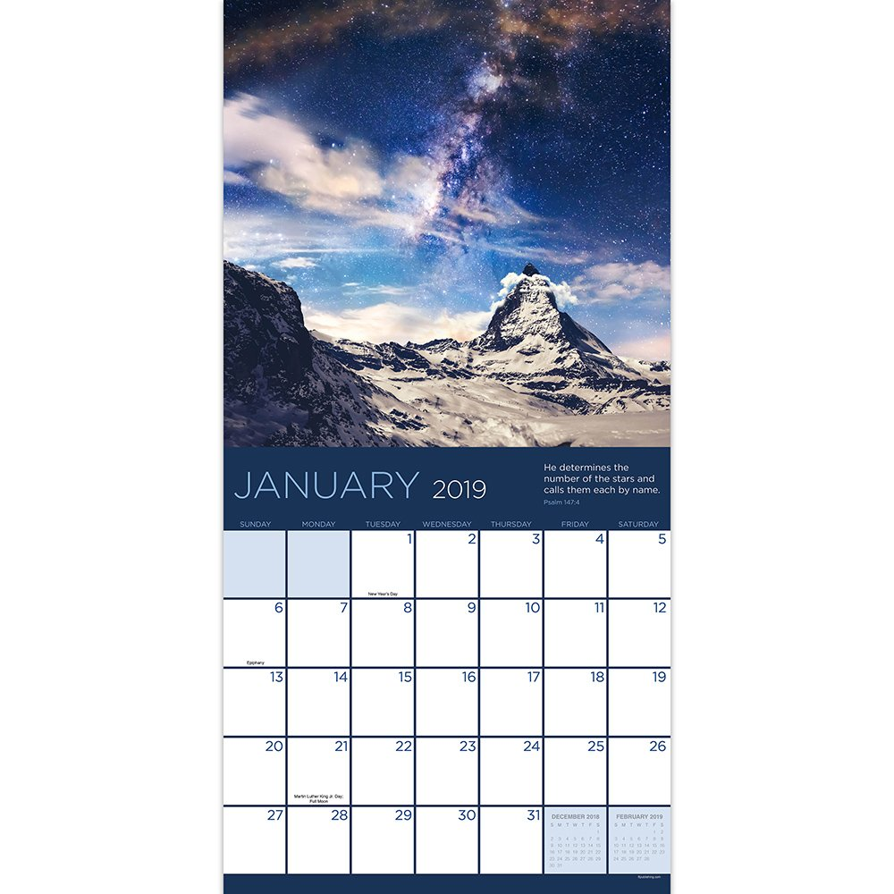 time factory psalms 12 x 12 january december 2019 wall calendar 19 1085
