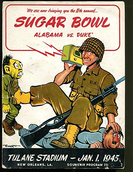 1945 Sugar Bowl Alabama Crimson Tide v Duke Blue Devils 1/1/45 Ex ...
