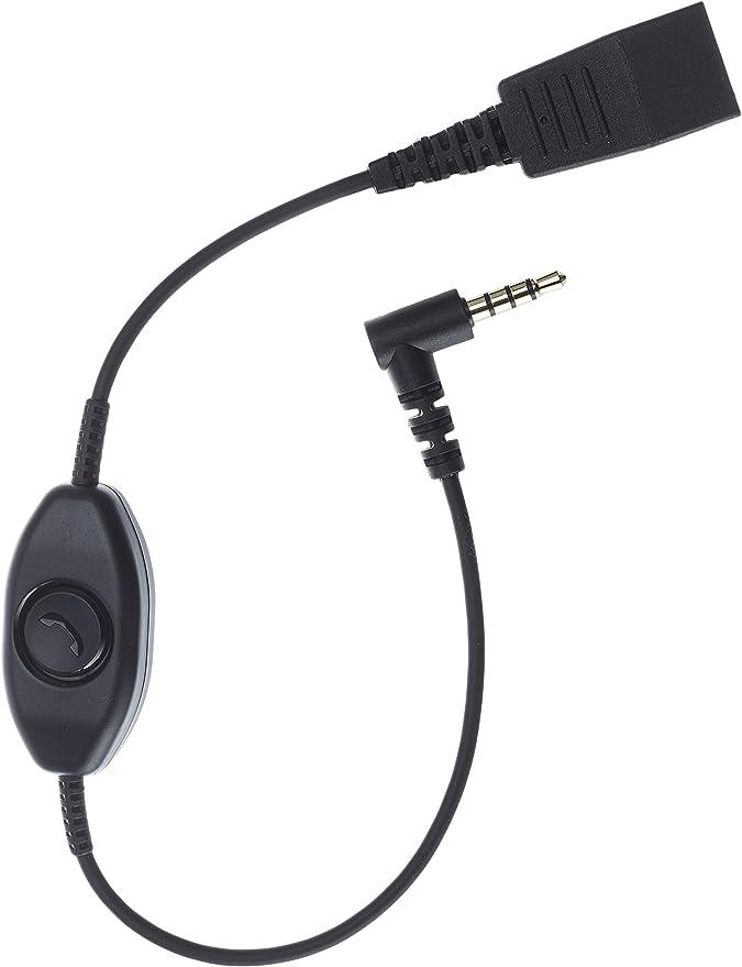 Jabra Kabel Quick Disconnect Qd Auf 3 5 Mm Klinkenstecker Mit Push To Talk Funktion Für Smartphones Elektronik