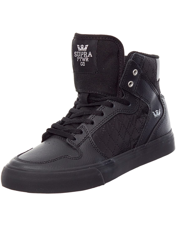 SUPRA(スープラ) VAIDER B01N5US9MD 6 Big Kid M Black Leather/Black