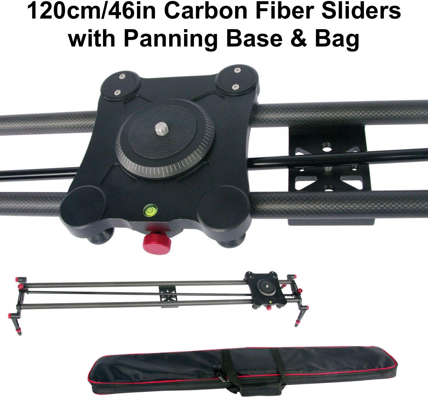 GTX Studio Carbon Fiber Slider with FF Pan 120cm//47in