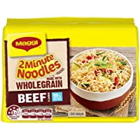 MAGGI 2 Minute Noodles, Wholegrain Beef, 5 Pack, 335g