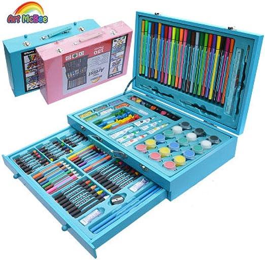 ZXUXU Caja de Madera 130 Piezas gelatina Dos Colores Juego de ...