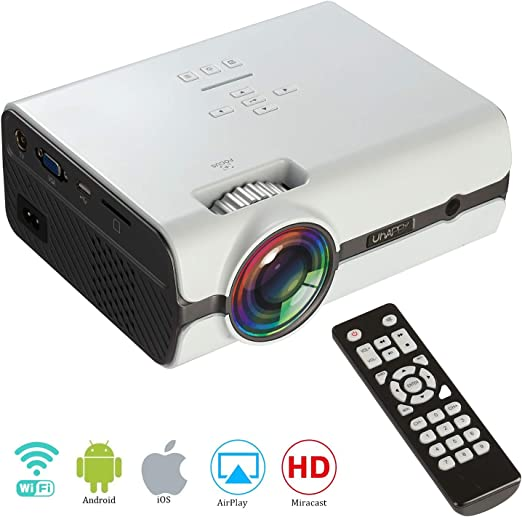 Proyector WiFi portátil,Mini Wireless Android 6.0, WiFi, Bluetooth ...