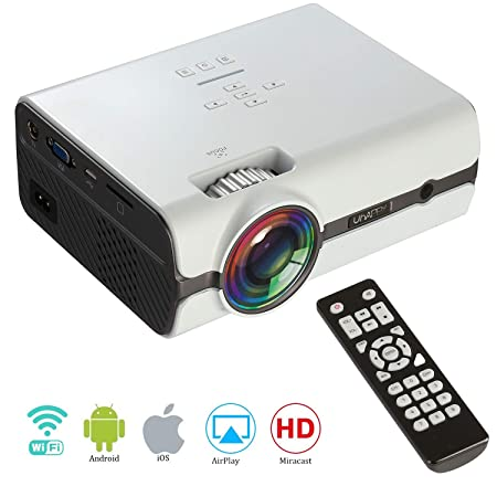 Proyector WiFi portátil,Mini Wireless Android 6.0, WiFi ...