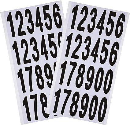 """1/"""" 2/"""" números de vinilo de 3/"""" pulgadas 0-9 Pegatinas Calcomanías Adhesivas 1 Hojas"""