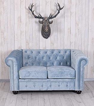 Unbekannt Chesterfield Sofa Samt Couch Polstersofa Sitzmöbel British