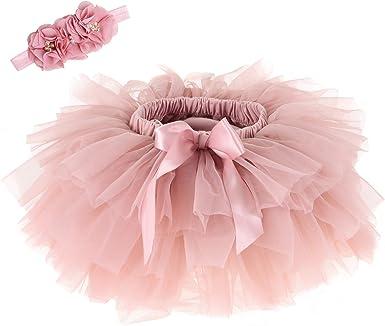 Anbaby Newborn Infant Baby Girls Super Soft Tulle Tutu Skirt Toddler Ruffled Shorts