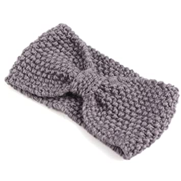 Amazon Womens Crochet Bow Knitted Headband Ear Warmer Hair