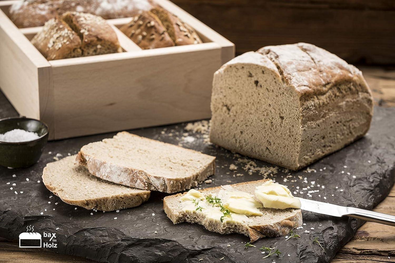 Brot-Holzbackrahmen aus naturbelassenem massiven Hartholz für leckeres Brot