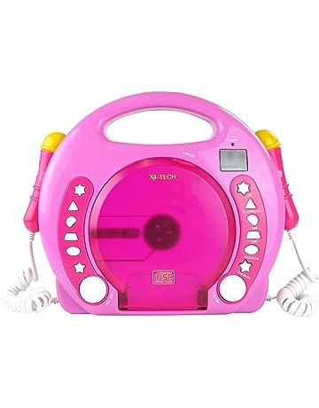 X4-TECH Bobby Joey CD/SD/USB Pink - Unidad de CD (
