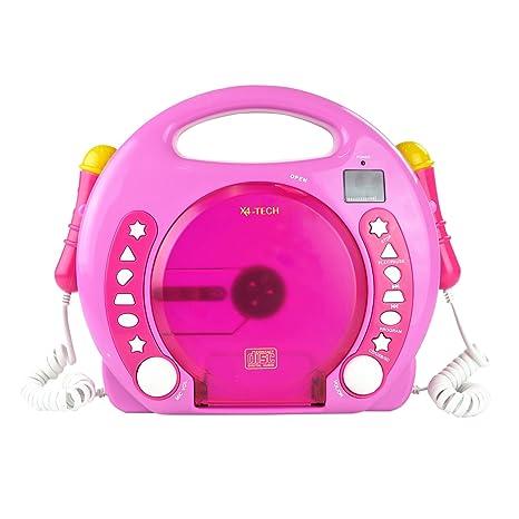 X4 TECH Bobby Joey Kinder CD-Player mp3 Pink