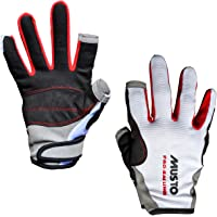 Musto Essential Sailing Long Finger Gloves in White