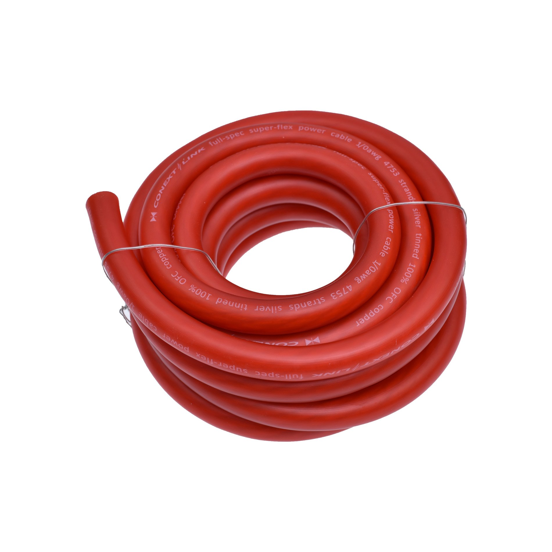 Conext Link 15 FT 1/0 AWG 0 GA Full Gauge Battery Power Cable Ground Wire Frost Red OFC Copper