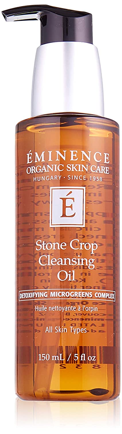 Eminence Organic Skincare Stone Crop Cleansing Oil, 5 Fluid Ounce