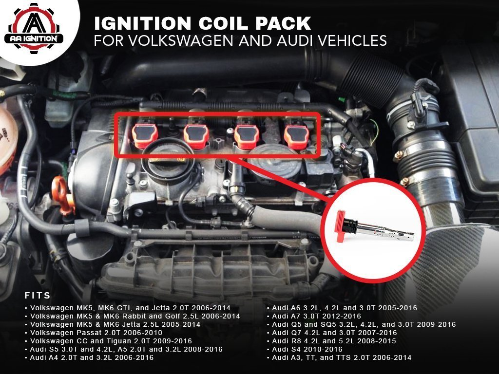Amazoncom Ignition Coil Pack Replaces EE Fits - Volkswagen audi