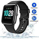 Men's Smart Watch Fitness Tracker for Women with Heart Rate Monitor Step Calorie Counter,Waterproof Sports Watch with…