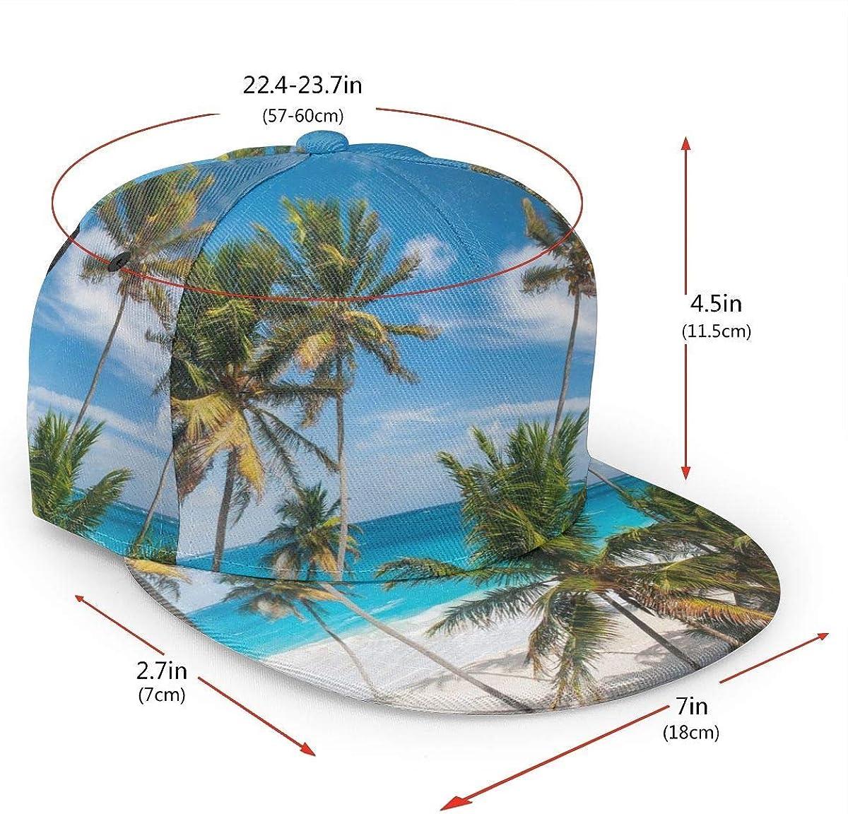 Palm Tree Blue Sea Lightweight Unisex Baseball Caps Adjustable Breathable Sun Hat for Sport Outdoor