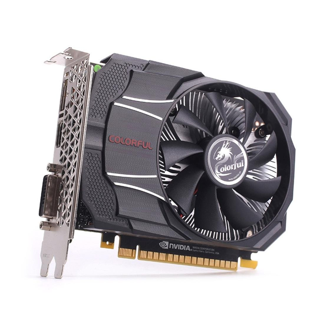 Eletty 4-pin Power GTX 1050 Mini OC 2G GDDR5 128-bit Game Video Cards Graphics Card Pc 7Gbps Memory