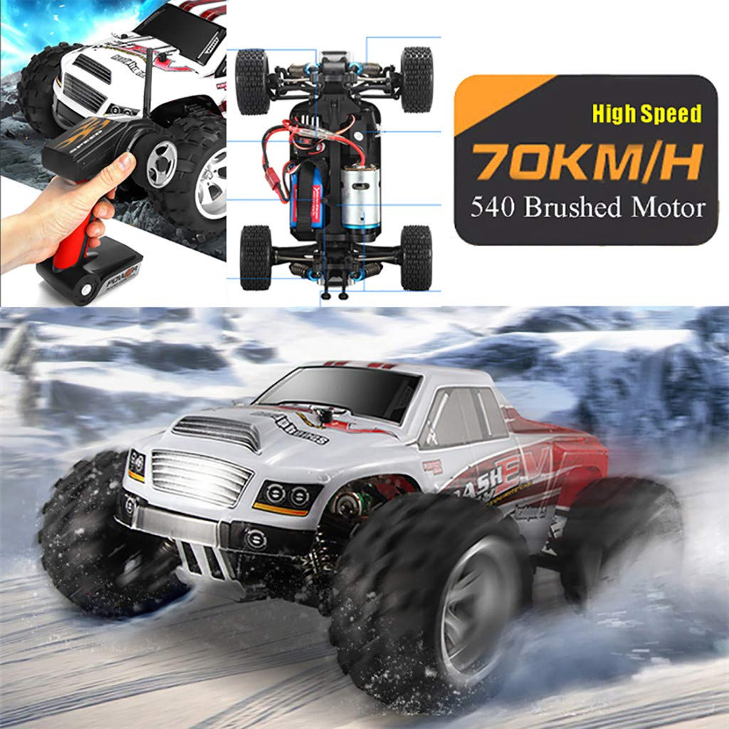 ASfairy WLtoys A979B 1:18 RC Car 2.4G 4WD High Speed 70km/h Off-Road Race Buggy Toy Gift | Remote Control Car Off-Road Motor Vehicle| All Terrain Waterproof Toys Trucks for Kids and Adults by ASfairy