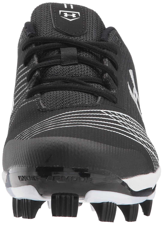 Under Armour Women's Glyde TPU Softball Shoe, Black/Black B06XCGSLVF 7.5 M US|Black (011)/White