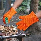 etmate hitzebeständige handschuhe koch ofen küche bbq back ... - Hitzeschutzhandschuhe Küche