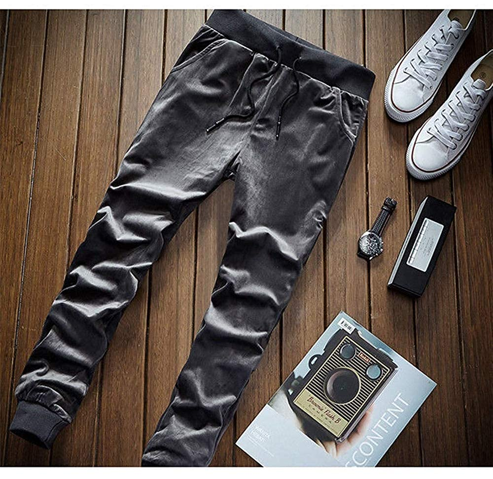 TOP Fighting Mens Elastic Waist Casual Lounge Pajama Jogger Yoga Pants Cotton