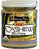 Wilderness Poets Cashew Butter - Organic & Raw - Cashew Nut Butter - 8 oz (227 g) Glass Jar