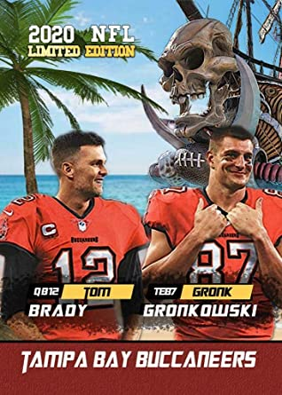 Amazon Com Brand New Tom Brady And Rob Gronkowski Tampa Bay Buccaneers Novelty Football Card Together Again Collectibles Fine Art