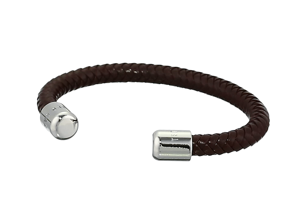 41da8349714b1 Amazon.com  Ted Baker Men s KARR Herringbone Leather Bracelet