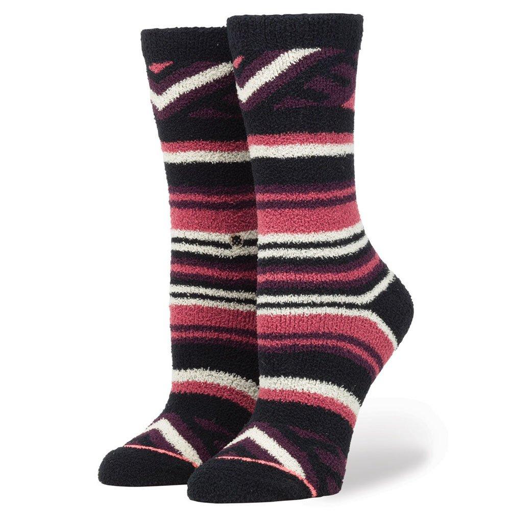 Stance Little Girls' Camila Stripes Reinforced Toe Arch Support Crew Sockcrew Sock, Plum, L