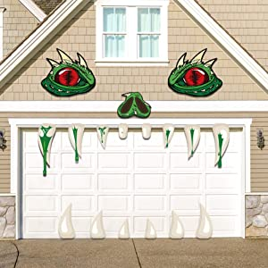 GEGEWOO Halloween Monster Face Decoration with Large Eyes Fangs Garage Door Archway Car Decor for Halloween Party Outdoor Decorations Supplies