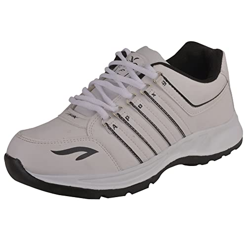 f39fc9b13a6bac APPOXY Men s Lace-up Mesh White Running Joggers Shoes  Buy Online at Low  Prices in India - Amazon.in