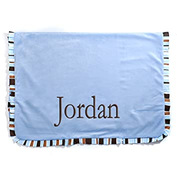 Amazon personalized baby receiving blanket perfect baby gift personalized baby receiving blanket perfect baby gift for baby boy blue negle Image collections
