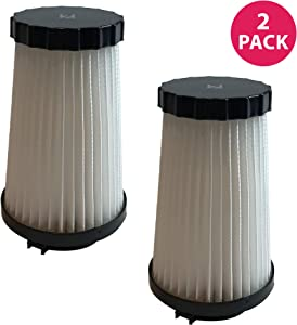 Crucial Vacuum Replacement Vacuum Filter - Compatible with Dirt Devil Part # 3SFA11500X & 3-F5A115-00X, F2 HEPA Style Filter Models, Vacuum- Fits Dynamite Quick, Jaguar Power Reach (2 Pack)