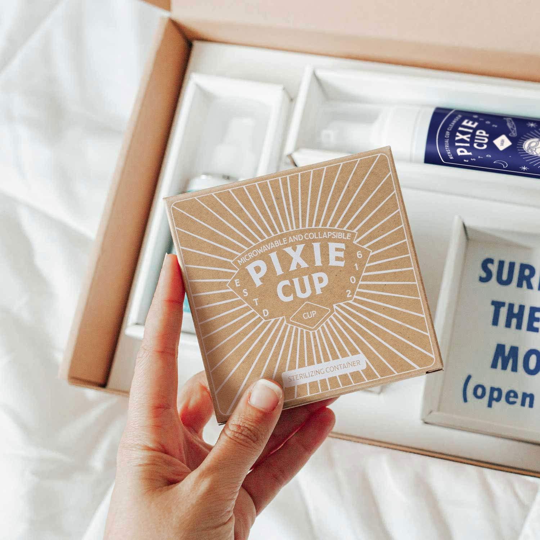 Pixie Kit de inicio de copa menstrual – Todo lo que necesitas y perfecto para principiantes – La mejor manera de aprender copas de período