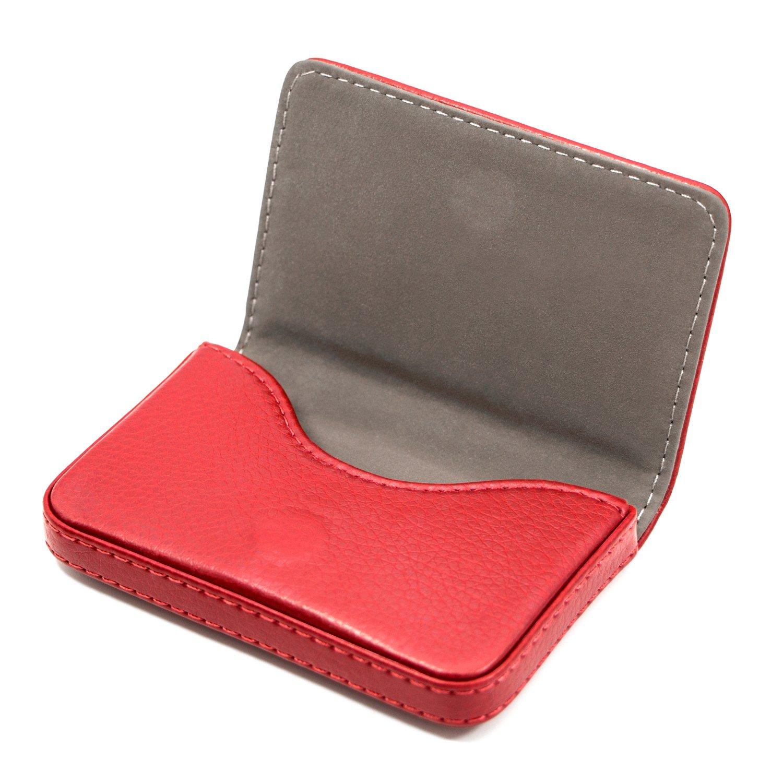 Business nome porta carte di credito ID custodia//supporto per uomini e donne/ /Keep your Business Cards Clean Yellow. Padike Business nome carta di lusso in pelle PU