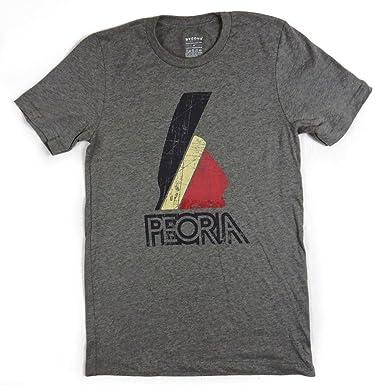21201dd7 Bygone Brand Peoria Indian Tee - Peoria Men's Shortsleeve T-Shirt S Gray